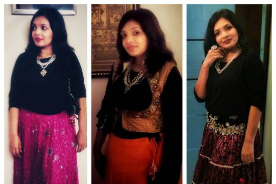 Festival Fusion Wear Looks with black zara top by Miss F Mixer feature image