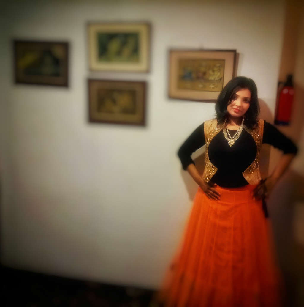 Diwali Fusion Wear Looks with black zara top by Miss F Mixer LOOK 2 pic 2