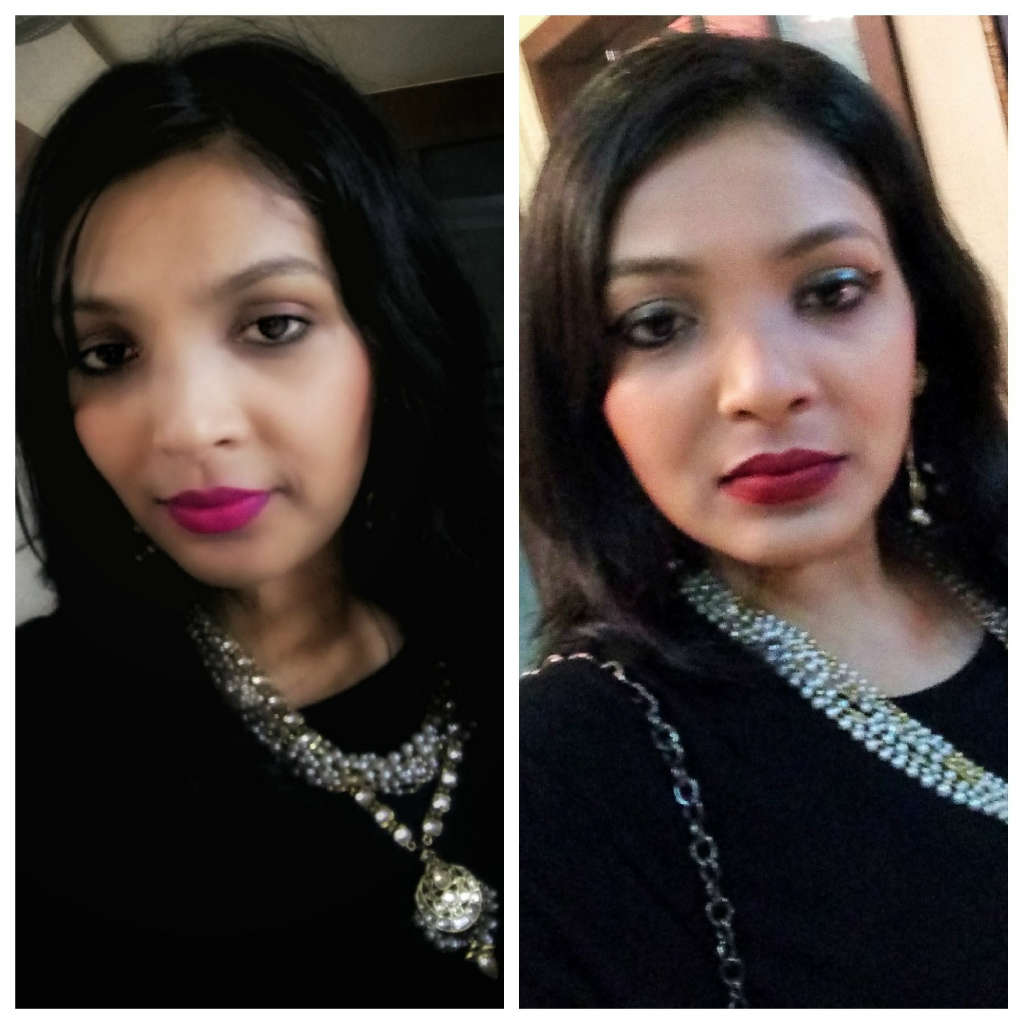 Diwali Fusion Wear Looks with black zara top by Miss F Mixer make up
