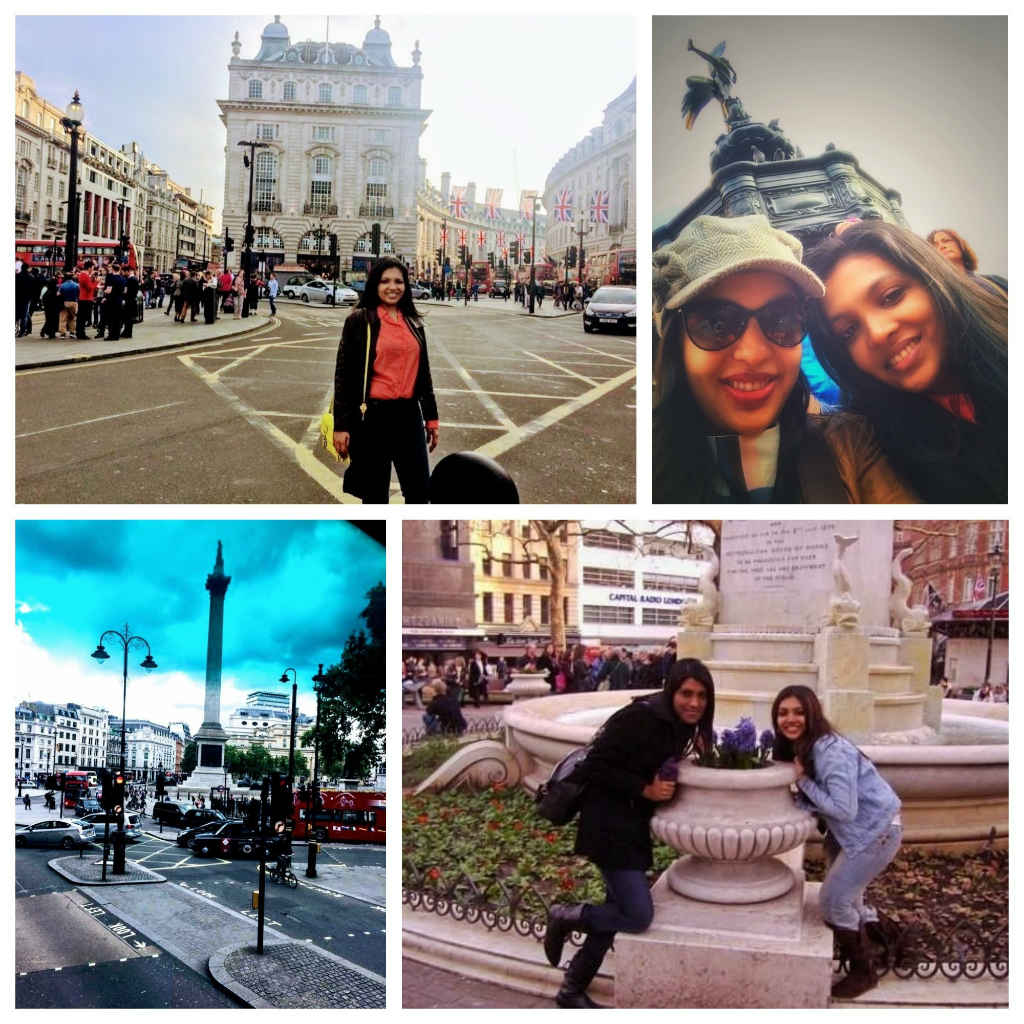 me and sister walking around Piccadilly square, trafalgar square, leicester square and soho-things to do-See London like a local-Magic of London-Part Two-Miss F Mixer